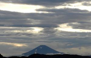 Mt. Fuji in the evening