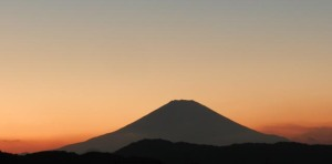Mt. Fuji viewed in the evening of November 5, 2016