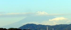Mt. Fuji viewed in the morning of November 5, 2015