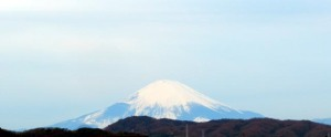 Mt Fuji viewed in the morning of January 27, 2017.